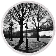 Queens Bridge Park  Round Beach Towel