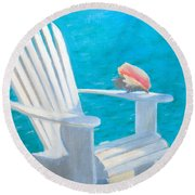 Queens Chair Round Beach Towel
