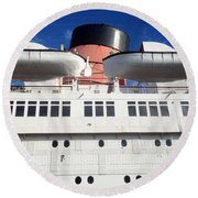 Queen's Life Boats Round Beach Towel