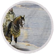 Queens War Horse Round Beach Towel
