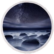 Quest For The Unknown Round Beach Towel