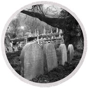 Quiet Cemetery Round Beach Towel