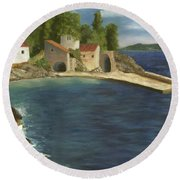 Quiet Cove Round Beach Towel