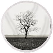Quiet Desperation Round Beach Towel