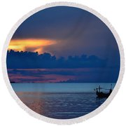 Quiet Evening Round Beach Towel