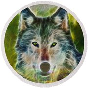 Quiet Majesty - Square Fractalized Version Round Beach Towel