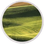 Quiet Morning In The Palouse  Round Beach Towel