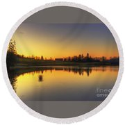 Quiet Sunrise.. Round Beach Towel