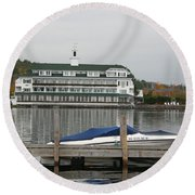 Quiettime At The Lake Round Beach Towel