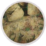 Quietude Of The Forest Round Beach Towel