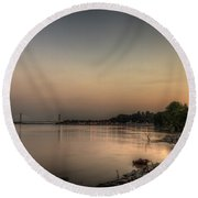 Quite Evening  Round Beach Towel