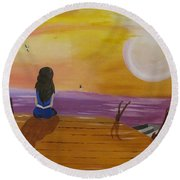 Quite Moments Round Beach Towel