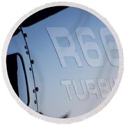 R66 Reflection Round Beach Towel by Paul Job