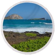 Rabbit Island Round Beach Towel