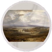 Raby Castle Round Beach Towel