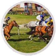 Race 6 - Del Mar Horse Race Round Beach Towel