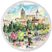 Race In Salamanca Round Beach Towel