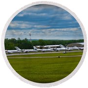 Race Week 2014 Pocono Airport  Round Beach Towel