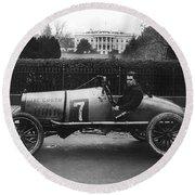 Racecar, 1922 Round Beach Towel