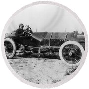 Racecar Drivers, C1913 Round Beach Towel
