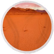Racetrack Valley Death Valley National Park Round Beach Towel