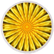 Radial Love Round Beach Towel