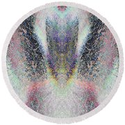 Radiant Seraphim Round Beach Towel by Christopher Gaston