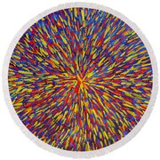 Radiation Blue Round Beach Towel