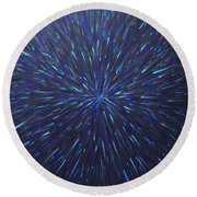 Radiation Grey  Round Beach Towel