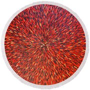 Radiation Red  Round Beach Towel