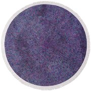 Radiation Violet  Round Beach Towel