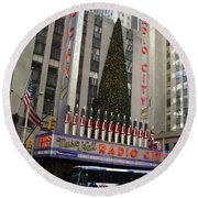 Radio City Music Hall 2003 Round Beach Towel