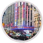 Radio City Music Hall New York City - 2 Round Beach Towel