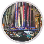 Radio City Music Hall New York City- 1 Round Beach Towel
