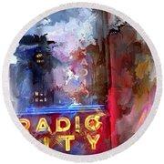 Radio City New York Round Beach Towel