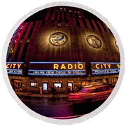 Radio City Round Beach Towel