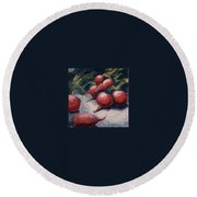 Radishes Round Beach Towel