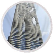 Radisson Blu Facade Vertical Round Beach Towel