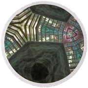 Rafters Abstract Round Beach Towel