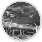 Rage Of The Wind Palm Springs Round Beach Towel