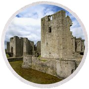 Raglan Castle - 3 Round Beach Towel