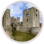 Raglan Castle - 5 Round Beach Towel