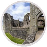 Raglan Castle - 6 Round Beach Towel