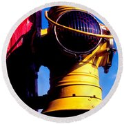 Railroad Oil Lantern Round Beach Towel