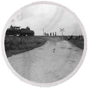 Railroad Workers, C1903 Round Beach Towel