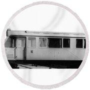 Railway Car, 1913 Round Beach Towel
