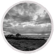 Rain Clouds At Sea 2 Round Beach Towel