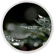 Rain Drop Bokeh Round Beach Towel