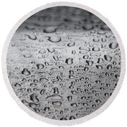 Rain Drops On Stainless Steel Round Beach Towel