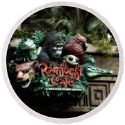 Rain Forest Cafe Signage Downtown Disneyland 03 Round Beach Towel